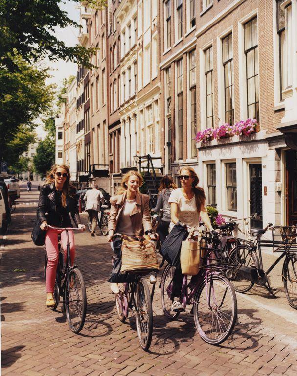 Biking around Amsterdam. Photo by Julien Capmeil