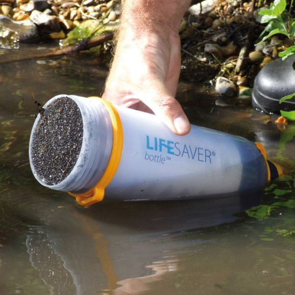 The remarkable Life Saver bottle has an affordable, portable carbon filter that can block any virus larger than 15 nanometers. What's more, it can go through more than 1,500 gallons of water before the filter needs to be replaced. The bacteria and virus retention rate is 99.99 percent effective -it's so thorough that it's even supposed to clean up (gulp) fecal matter.    The bottle was inspired by the aftermath of Hurricane Katrina when visiting businessman Michael Pritchard found that…