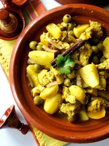 Tajine de poulet aux olives et au citron confit au Multicuiseur : Recette de Tajine de poulet aux olives et au citron confit au Multicuiseur - Marmiton