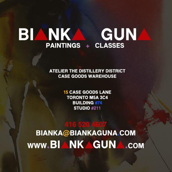 Bianka Guna Art Business Card with Studio Information