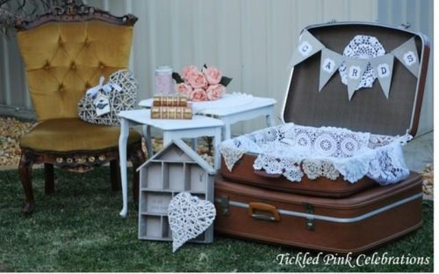 Vintage wedding props and styling from Tickled Pink Celebrations Sydney