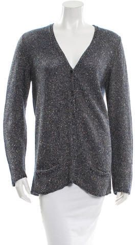 Marc Jacobs Metallic V-Neck Cardigan
