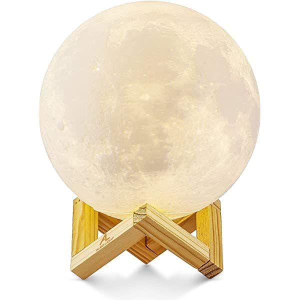 Albrillo Rgb 3d Erde Lampe 15cm Mit Remote Touch Control 16 Lichtfarben Und Dimmbar Nachtlicht Usb Wiederaufladbar Als De In 2020 Nachtlicht Nachtlampen Mond Lampe