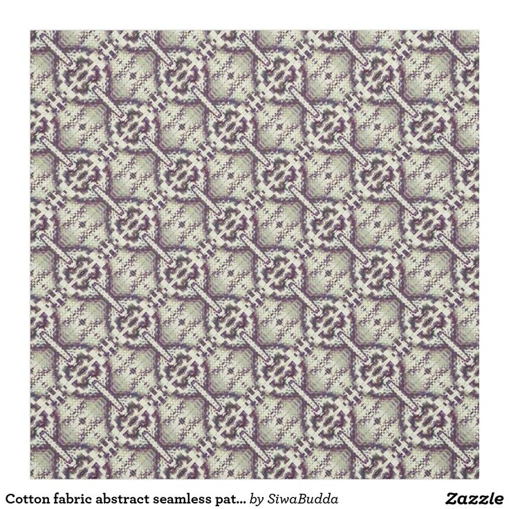 Cotton fabric abstract seamless pattern