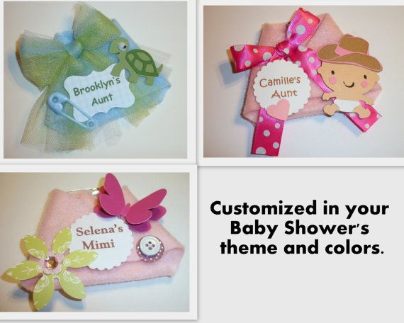 Corsage for grandma at baby shower cost saving diaper for Baby shower cost