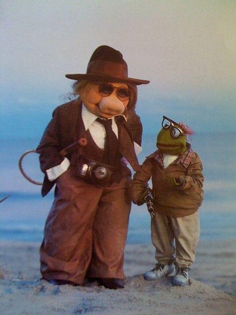 Piggy et Kermit/ Diane Keaton et Woody Allen