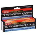 HEB 1% Hydrocortizone Cream - Crema contra la picazón, 1 oz.