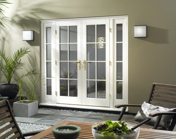 Patio doors with sidelights patio french doors with for French doors back porch