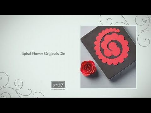 971 best paper flowers images on pinterest paper flowers fabric 653 spiral flower originals die by stampin up youtube mightylinksfo