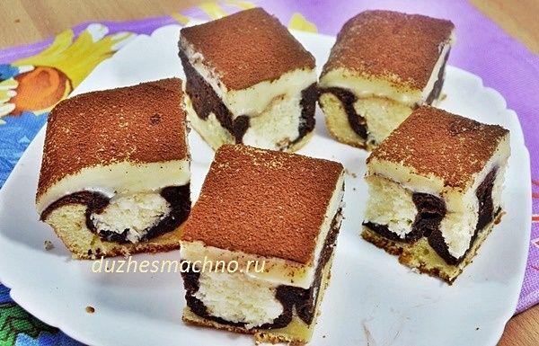 Шоколадный пирог (пляцок) «Утренняя роса» | Вкусные рецепты