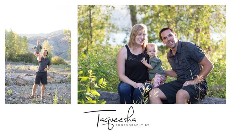Kamloops Family Photographer, summer evening session. Beach family photos. Playing with daddy!