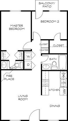 Image Result For Mother In Law Suite Addition Floor Plan 24 X 24 Small House Plans House Plans 800 Sq Ft House