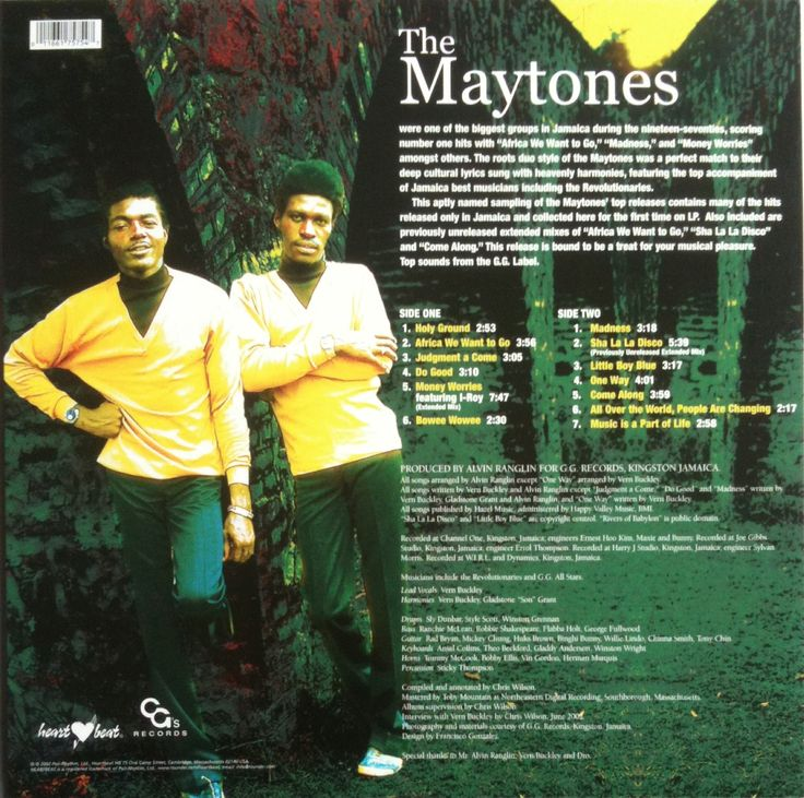 The Maytones Their Greatest Hits (back cover)