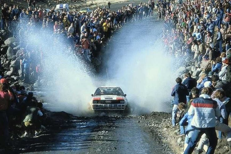 Audi Quattro, one of the legendary Group B rally cars, was the first WRC car with four-wheel.drive in the World Rally Championship