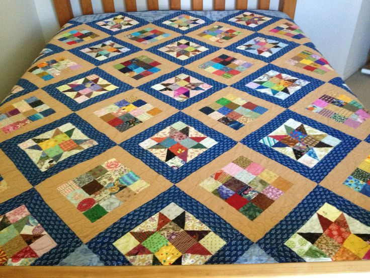 Yet another scrappy quilt.