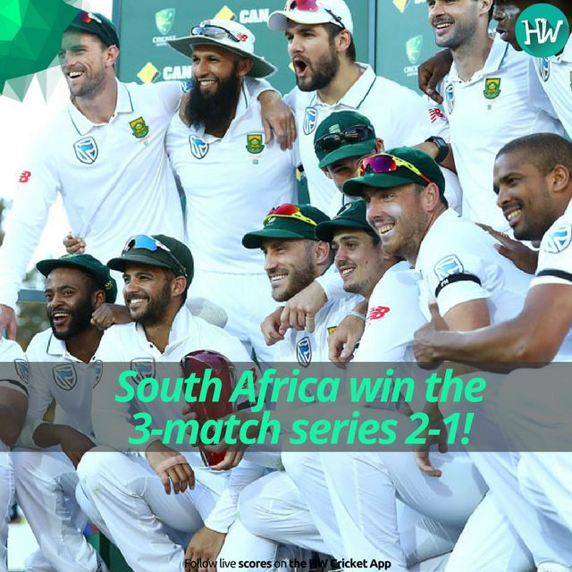 The first two Tests were dominated by South Africa. They were deserving of the  series trophy! #AUSvSA  #AUS #SA #cricket