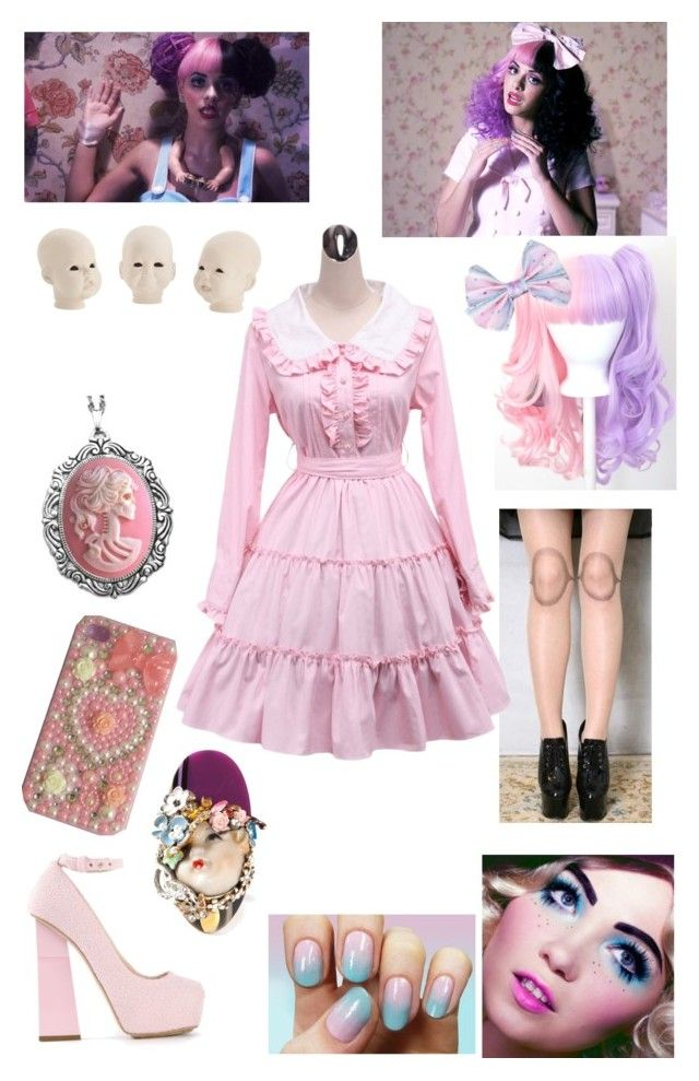 """""""Dollhouse By Melanie Martinez"""" by mrswinchester4vr ❤ liked on Polyvore featuring Dollhouse, Aperlaï, Couture by Lolita and Ludmila Unconventional Jewelry"""
