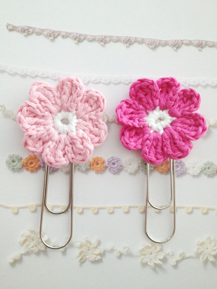 Crochet Hair Garland : ... , great on the paperclip, but nice as garland, hair slide... ooh