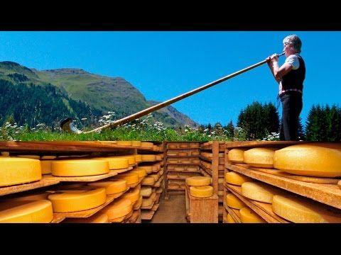 Tradiciones suizas: El Emmental y la trompa alpina - YouTube
