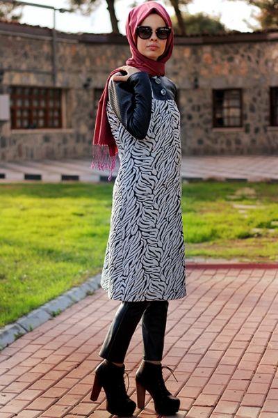 Nur Banu Siyah Zebra Kap