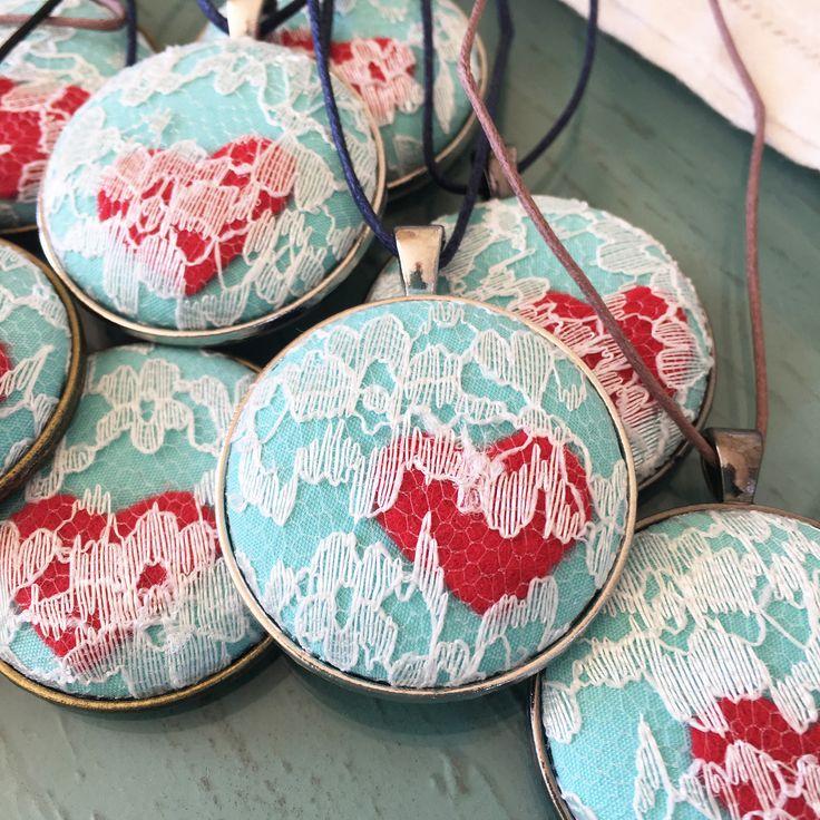 An I Like Big Buttons Christmas! Idea #23: Fabric Cover Button Pendant Necklace – I Like Big Buttons.com