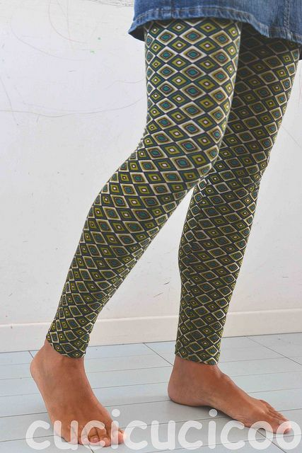 How to Draft a Leggings Pattern - Clickable link for sewing directions too