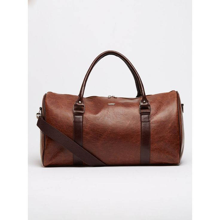 William Leather Duffel Bag Dark Brown