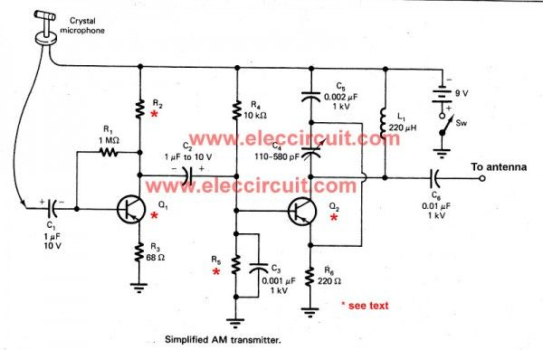 simple active antenna in sw mw fm bands eleccircuit