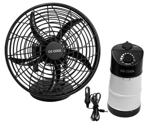 O2 Cool Portable Tent Fan With Emergency Device Charger
