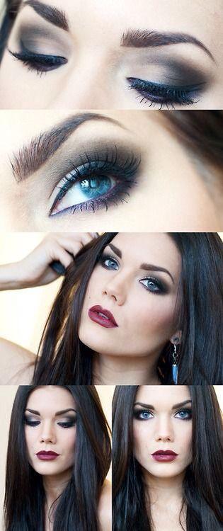 #makeup #inspiration #brunettemakeup #brunettr #maquiagem