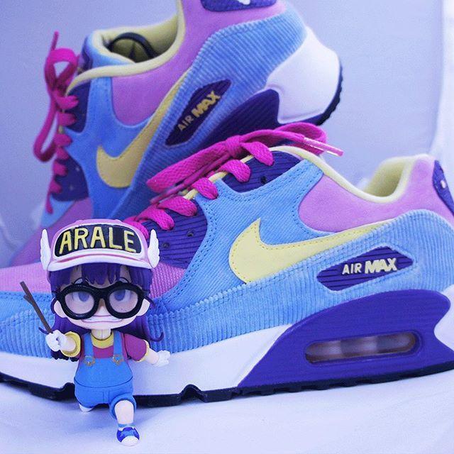 Nike Air Max 90 Arale Custom | Nike air max, Nike, Nike air