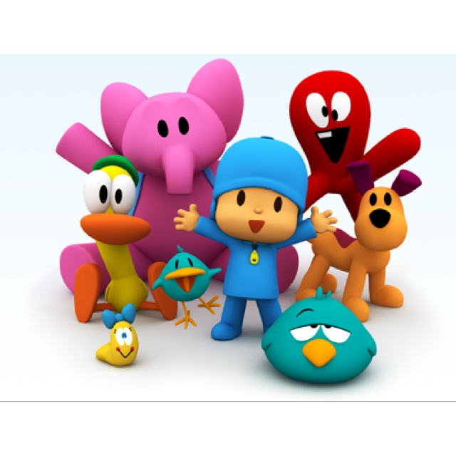 Pocoyo - the whole gang, as a mother with a toddler this show is a lifesaver!! He just sits and watches and interacts so well with this show!