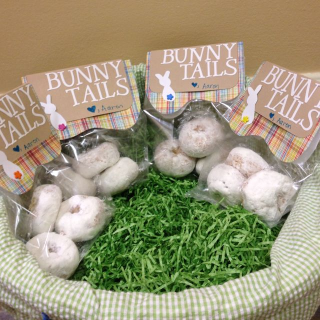 90 best easter baskets gifts and crafts images on pinterest happy just throw a bunch of powdered donuts in a bowl and call them bunny tails no prep easy clean up the perfect easter treat negle Gallery