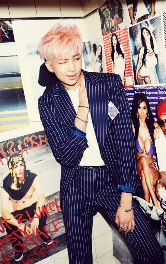 BTS drop concept photos for comeback with 'Hormone War'   allkpop.com they way Rap Mon is looking at that pic...