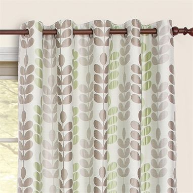 £44.50 Sardinia Green Eyelet Curtain Close from Harry Corry - Bedroom Curtains BOUGHT