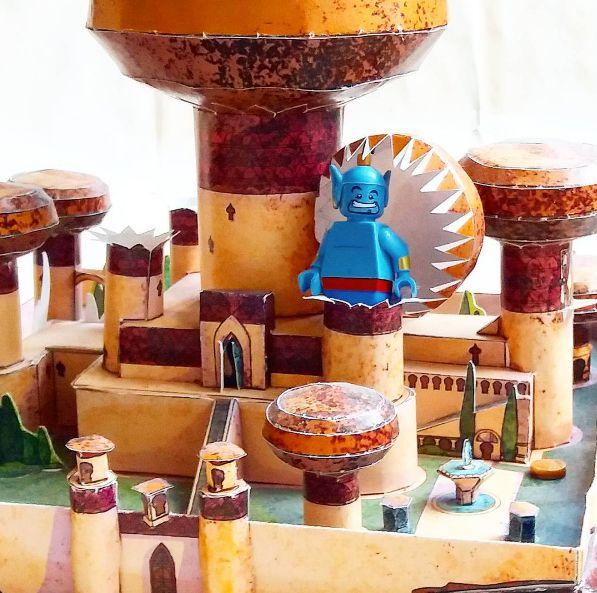 #disney #aladdin #genie #papercraft #model #miniature #lego #disneylego #legofan #disneyfan #figure #minifigure #toy #etsy #etsyseller #etsystore