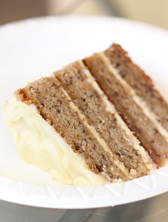 Banana layer cake with passionfruit cream cheese icing from Raspberri Cupcakes