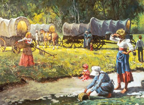 Mormon Pioneer Women   As the Saints traveled to the Salt Lake Valley, women helped one ...