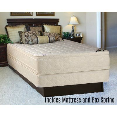 "Alwyn Home Foam Eurotop 14"" Orthopedic Mattress and Box Spring Mattress size: California King"