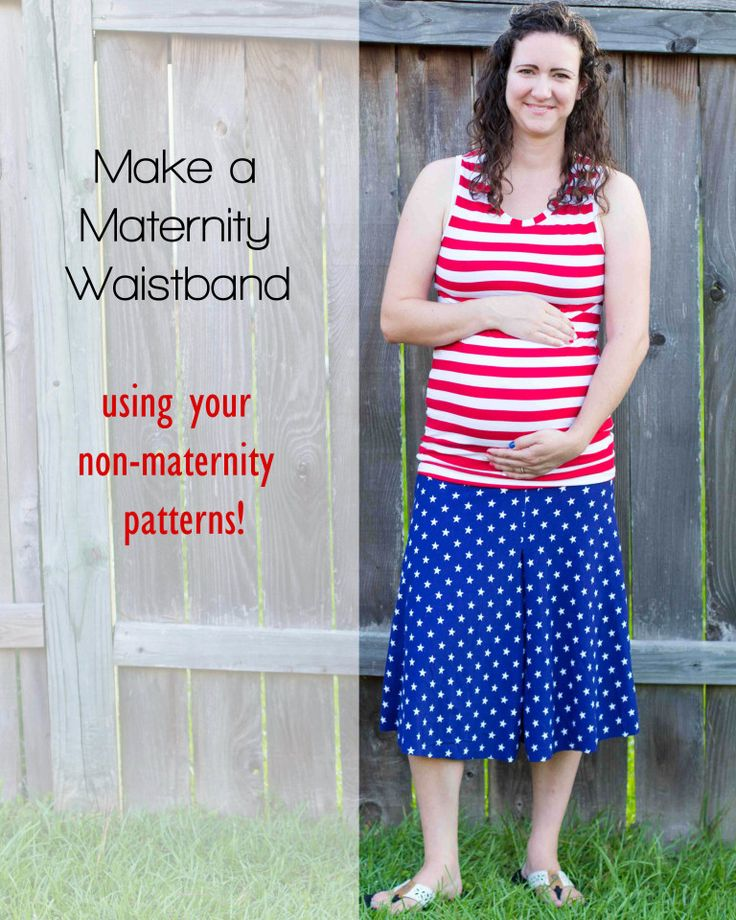 Adding a yoga waistband to a non-maternity pattern // DIYmaternity.com