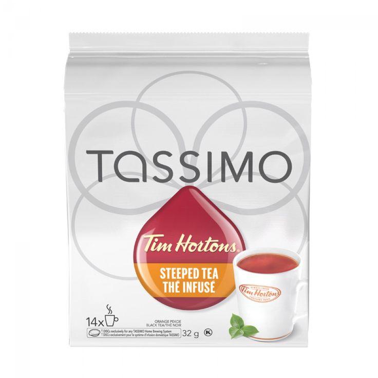Tassimo Tim Hortons Steeped Tea 14 T-Discs | Enjoy Tim Hortons Orange Pekoe Steeped Tea instantly with your Tassimo. #tassimo #tea #timhortons