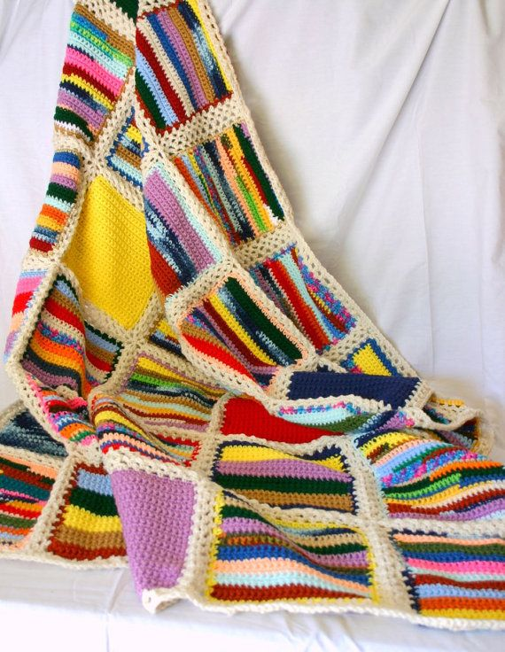 Knitting Patterns For Wool Scraps : 829 best images about Scrap Yarn - Afghans & More Crochet on Pinterest ...