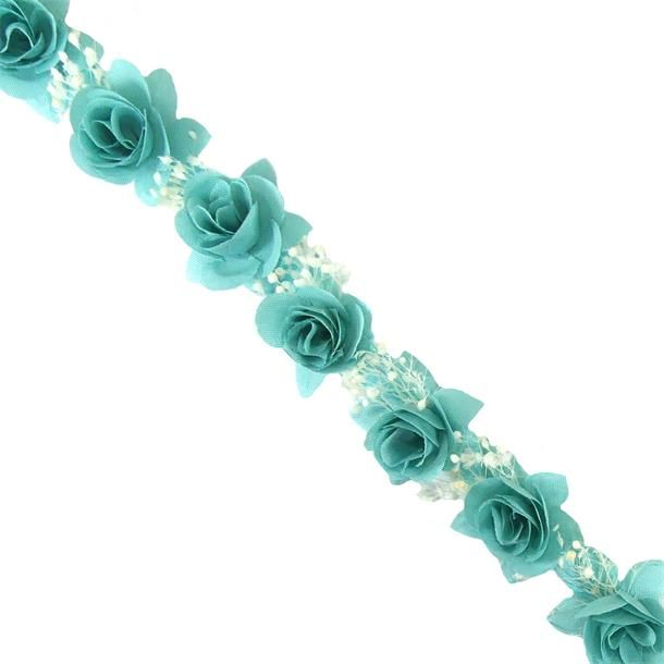Tira De Flores De Tela Disponible En Múltiples Colores E Ideal Para Decorar Peinetas Diademas O Cinturones Flores Fl Flores De Tela Flores Flores Secas