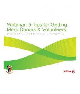 5 Tips for Getting More Donors & #Volunteers - Download the presentation slides for free: http://www.scribd.com/doc/97551317/5-Tips-for-Getting-More-Donors-Volunteers-Nonprofit#