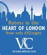 Victory Services Club in #London offers accommodation including breakfast for £42 per night (cheapest single room) for serving and retired armed forces and their families!