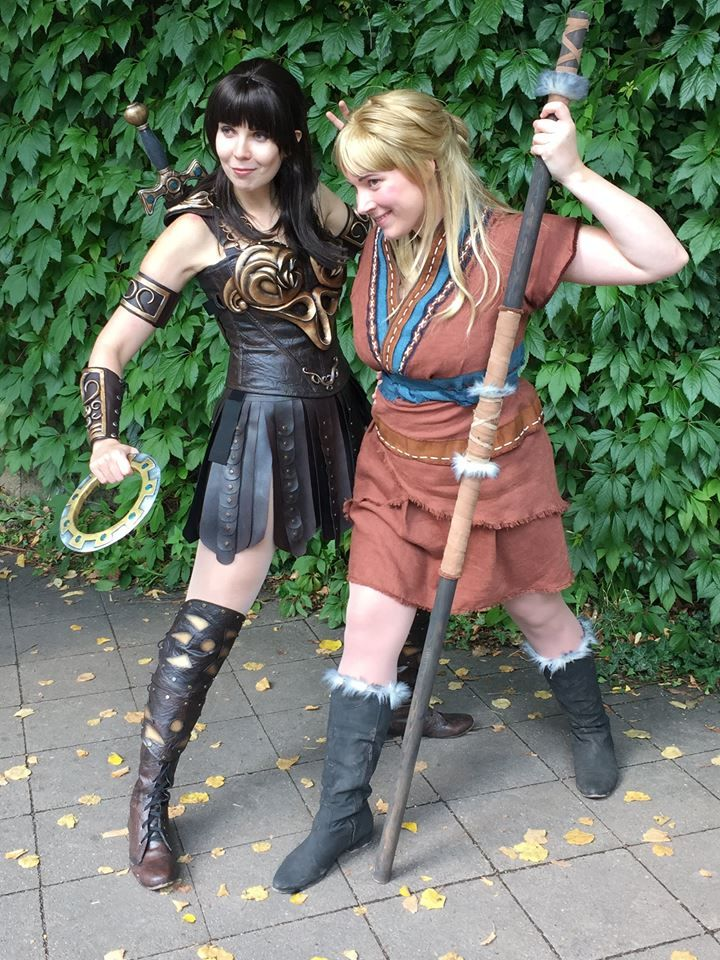 Kamui Cosplay as Xena and Selina as Gabrielle at Conichi ...