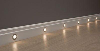 LED light up skirting board