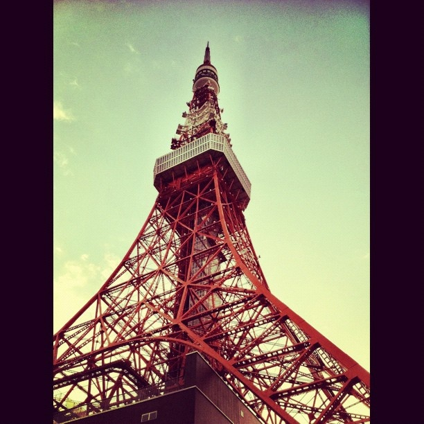 Tokyo Tower. 333m (taller than the Eifel Tower) completed in 1958