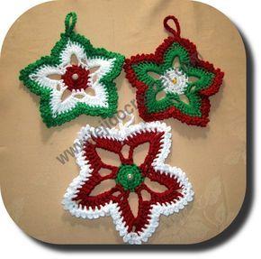 Estrella navidad en tejido crochet