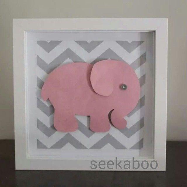 How cute are baby elephants?!  #seekaboo #handmade #gifts #nurseryart #BabyElephant #art #babygoods #giftsforall #babyshower #pink #grey #newbaby #crafty #artsy #supporthandmade #Australianmade...
